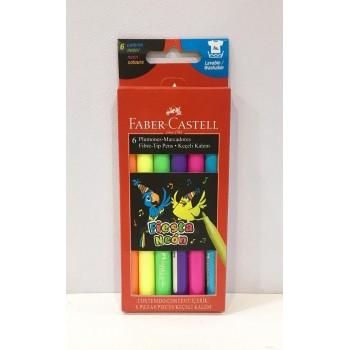 Marcador Faber-Castell Flúo x6