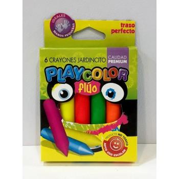 Crayones Playcolor x6 flúo